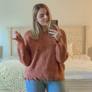 Forever 21 Frayed Knit Sweater